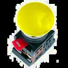 Кнопка АЕА-22 Грибок желтая NO+NC EKF