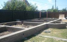 Строительство фундамента, бетонные, земляные работы
