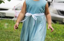 Нежное платье в голубых тонах для девочки от 3-х до 5-х лет