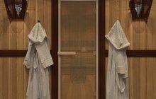Двери со стеклом для бани / сауны