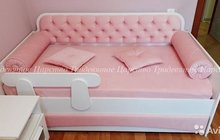Кровать тахта детская. Мягкий фасад