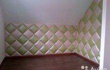 Мягкие стеновые панели из ткани и кожи