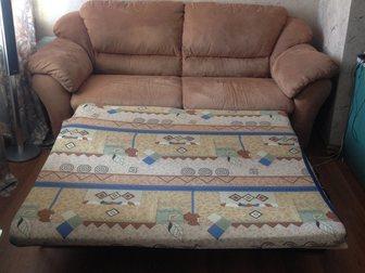 Смотреть фото  Набор мягкой мебели, Диван раскладной и два кресла 35392751 в Новосибирске