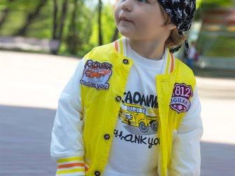 Уникальное фотографию Детская одежда Яркий желтый костюм с курткой для мальчиков на 2-4 года 35489242 в Новосибирске
