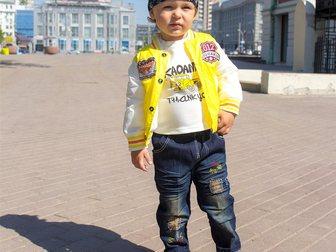Новое фото Детская одежда Яркий желтый костюм с курткой для мальчиков на 2-4 года 35489242 в Новосибирске
