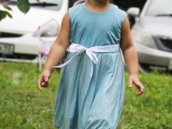 Новое фото Детская одежда Нежное платье в голубых тонах для девочки от 3-х до 5-х лет! 35489711 в Новосибирске