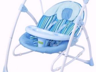 Уникальное foto Товары для новорожденных Кресло-качалка Electric swing BT-SC-001 35848441 в Новосибирске