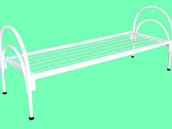 Скачать фото Мебель для спальни Кровати металлические для времянок, Кровати для бюджетных гостиниц, Кроват железные для интернатов 37434210 в Новосибирске