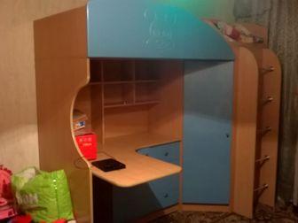 Уникальное изображение Мебель для детей Детский комплекс-кровать, шкаф, стол+ матрас 37664276 в Новосибирске