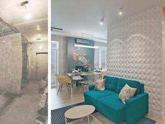 Просмотреть foto  Индивидуальный дизайн жилых, офисных и коммерческих помещений, 53782849 в Новосибирске
