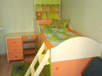 Шкаф-кровать в идеальном состоянии, В комплекте все что на фотографии (сама кровать,матрас, покрывало,стул выростайка Бемби,подушки, светильник,коврик, Все сделано в Новосибирске