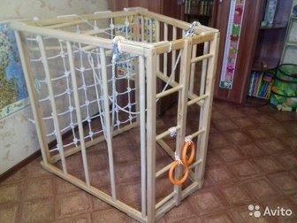 Детский комплекс для физического развития детей,  Конструкция выполнена в форме трапеции и может переворачиваться на любую грань,  Комплекс изготавливался  на заказ! в Новосибирске