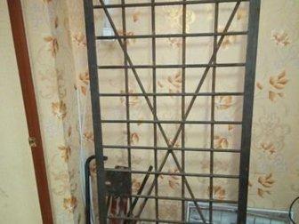 Металлическая решетчатая дверь,  Размер 193х87 см,  Уголок 50мм, прут 16-18, в Новосибирске