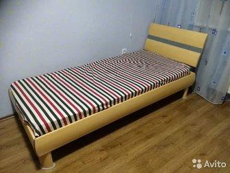 Кровать Lazurit, из комплекта детской мебели,  Сам комплект размещен в отдельном объявлении,  Цена указана только за кровать!Размер кровати - 210х100 В комплекте в Новосибирске