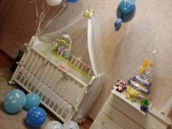 Продам детскую кровать-качалку Гандылян ВанечкаКроватка имеет дуги-полозья для раскачивания и две пары колес на ножках, что облегчает ее перемещение в комнатном в Новосибирске