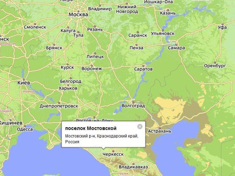 Ставрополь где находится на карте