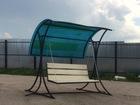 Уникальное изображение Мебель для дачи и сада Садовые, разборные качели,в комплект входит цветной поликарбонат 39883964 в Орле