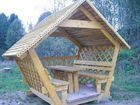 Свежее фото Строительство домов Беседка из дерева летняя и зимняя для дачи в сборе, Доставка в сборе  37611718 в Пензе