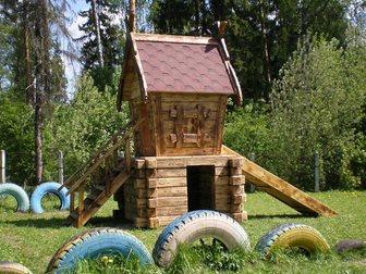 Уникальное фотографию Разное Детские площадки из клееного бруса и бревна 32481817 в Пензе
