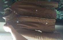 Кожаная курточка со стразами Swarovski