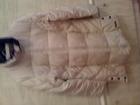 Скачать фото Женская одежда Пуховик бежевого цвета без капюшона р, 46-48 56668655 в Питере