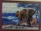 Изображение в Хобби и увлечения Разное Вышитая картина «Слоны», размер готовой работы в Рязани 13000