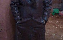 Продаю кожаный плащ с капюшоном