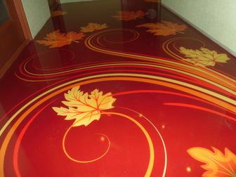 Уникальное foto  Полимерный наливной пол для кухни, 37960223 в Ростове-на-Дону