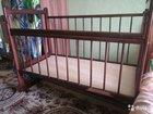 Детская кроватка  матрац (совершенно новый)