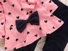 Свежее фотографию Детская одежда Комплект для девочки розовый с сердечками 33910430 в Санкт-Петербурге