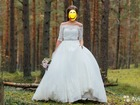 Изображение в Одежда и обувь, аксессуары Свадебные платья Шикарное свадебное платье с кружевными рукавами в Санкт-Петербурге 50000