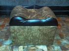 Изображение в Мебель и интерьер Мебель для спальни Роскошный пуфик с внутренним ящиком, обивка в Санкт-Петербурге 999