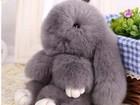 Уникальное изображение Детские игрушки Брелок меховой зайка оптом 18 см 37728377 в Санкт-Петербурге