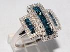 Смотреть изображение  Роскошное кольцо с голубыми бриллиантами, 38014348 в Санкт-Петербурге