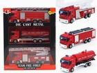 Свежее фотографию Детские игрушки Игровой набор 3 пожарные машины с металлическими кабинами 39967699 в Санкт-Петербурге