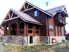 Дома и бани из зимнего леса