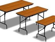 Складные столы, стулья и скамейки Компания «РегионПоставка» предлагает большой в