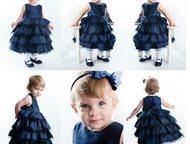 Темно-синее детское нарядное платье на рост 100см Продам: Новое нарядное платье
