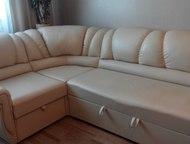 угловой диван Виктория угловой диван из качественного к/зам. , цвет светло-кремо