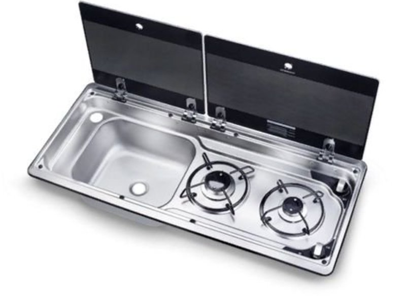 Sink with Drainer and Tap. Smev 8821 Campervan Caravan and Motorhome Smev Hob