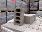 Новое изображение  Керамзитобетонный блок 390х188х190 мм / 4 - пустотный 68124391 в Саранске