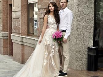 Увидеть фотографию  Свадебное платье-трансформер 40-42 (XS) 40444868 в Саратове