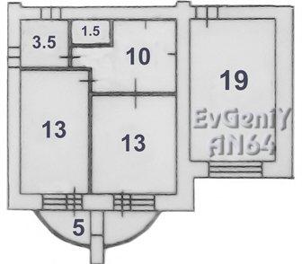 Фото в Недвижимость Продажа квартир Продаётся двухкомнатная квартира, в новом, в Саратове 1900000