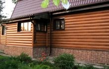 Металлический сайдинг под дерево Блок-Хаус в Чехове, Серпухове