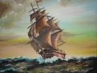 Скачать бесплатно фотографию  картина маслом парусник и море 40х45 39570301 в Сыктывкаре