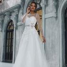 Свадебное платье+ венчальная накидка+ фата+ подъюбник