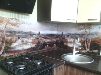 Скачать foto Кухонная мебель стеклянные фартуки на кухню скинали 33561901 в Тольятти