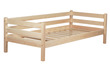Практичная деревянная кровать из массива