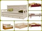Уникальное фото Мебель для спальни Кровать деревянная 80х190 см 38422524 в Томске
