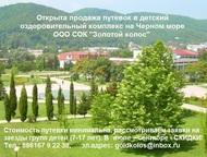 Детский отдых - путевки на Черное море - СОК Золотой колос Путевки для организов